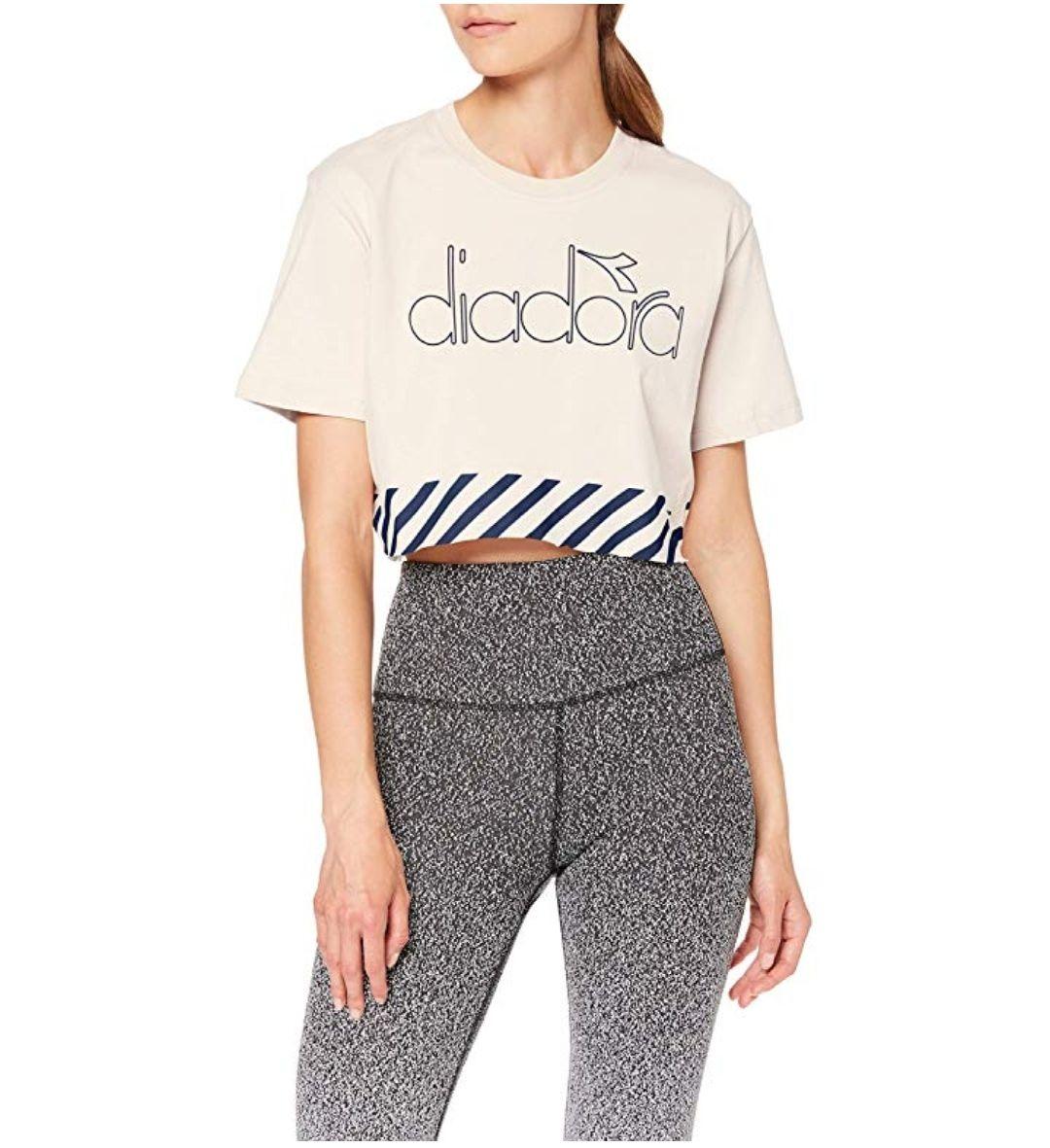 TALLA L - Diadora L. Top Barra Camiseta, Mujer