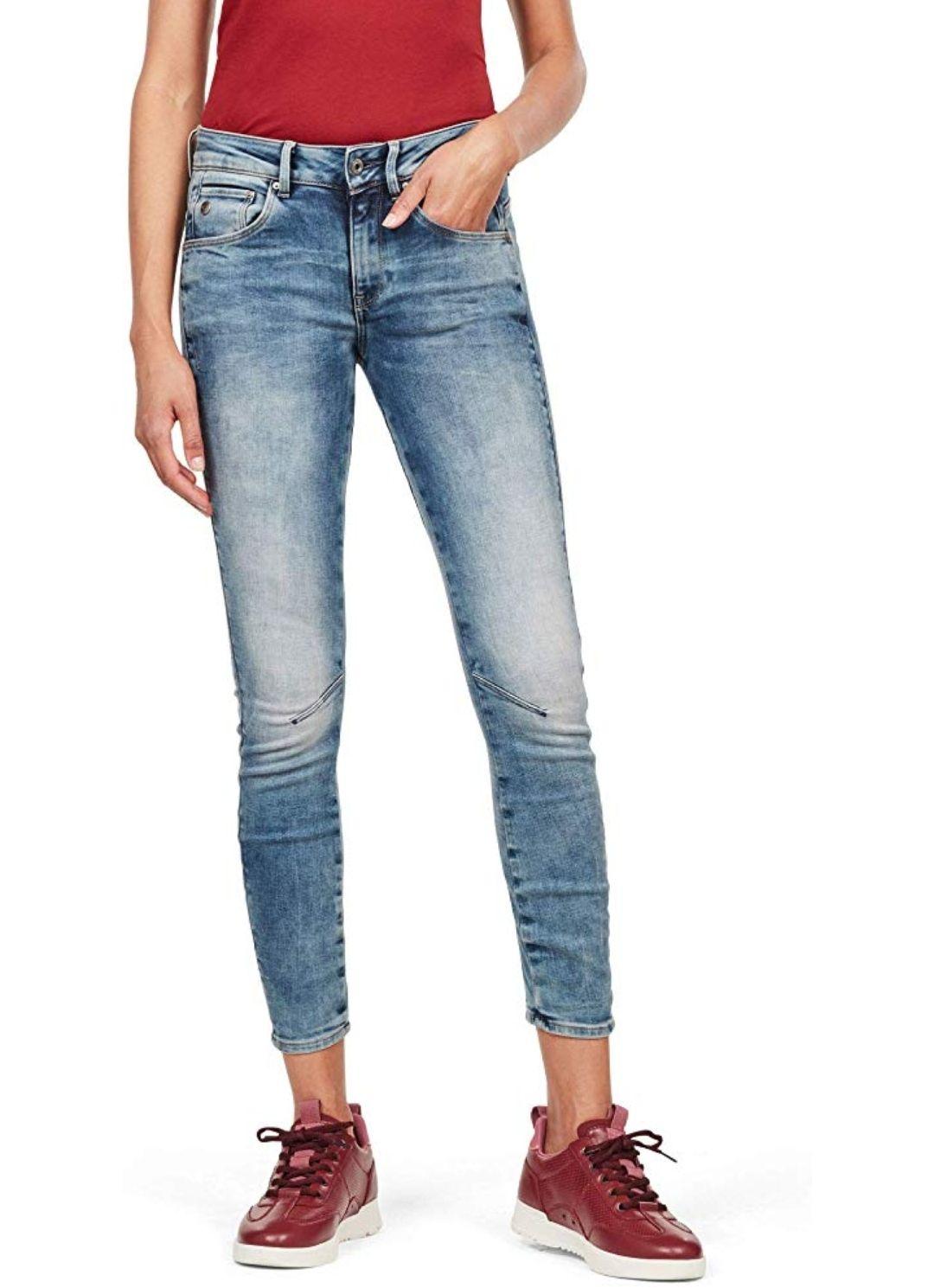TALLA 22W/30L - G-STAR RAW ARC 3D Mid Skinny Wmn Jeans para Mujer