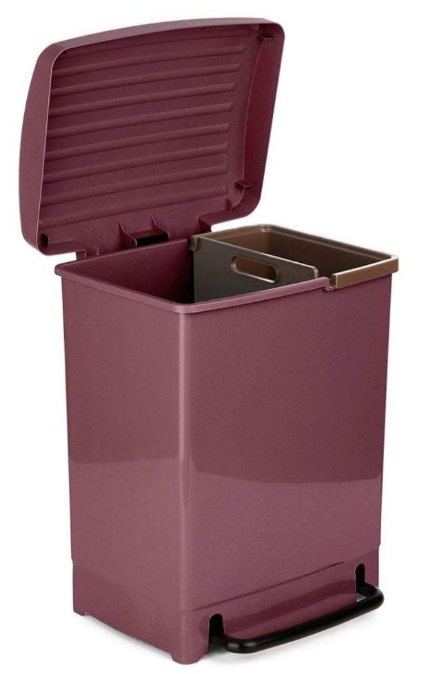 Tatay 1101902 Optimist Papelera De Reciclaje 30L Color Morado