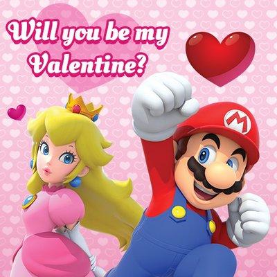 San Valentín :: Tarjetas temática Nintendo
