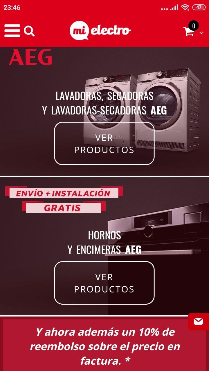 Envío e instalación gratis en Electródomesticos AEG