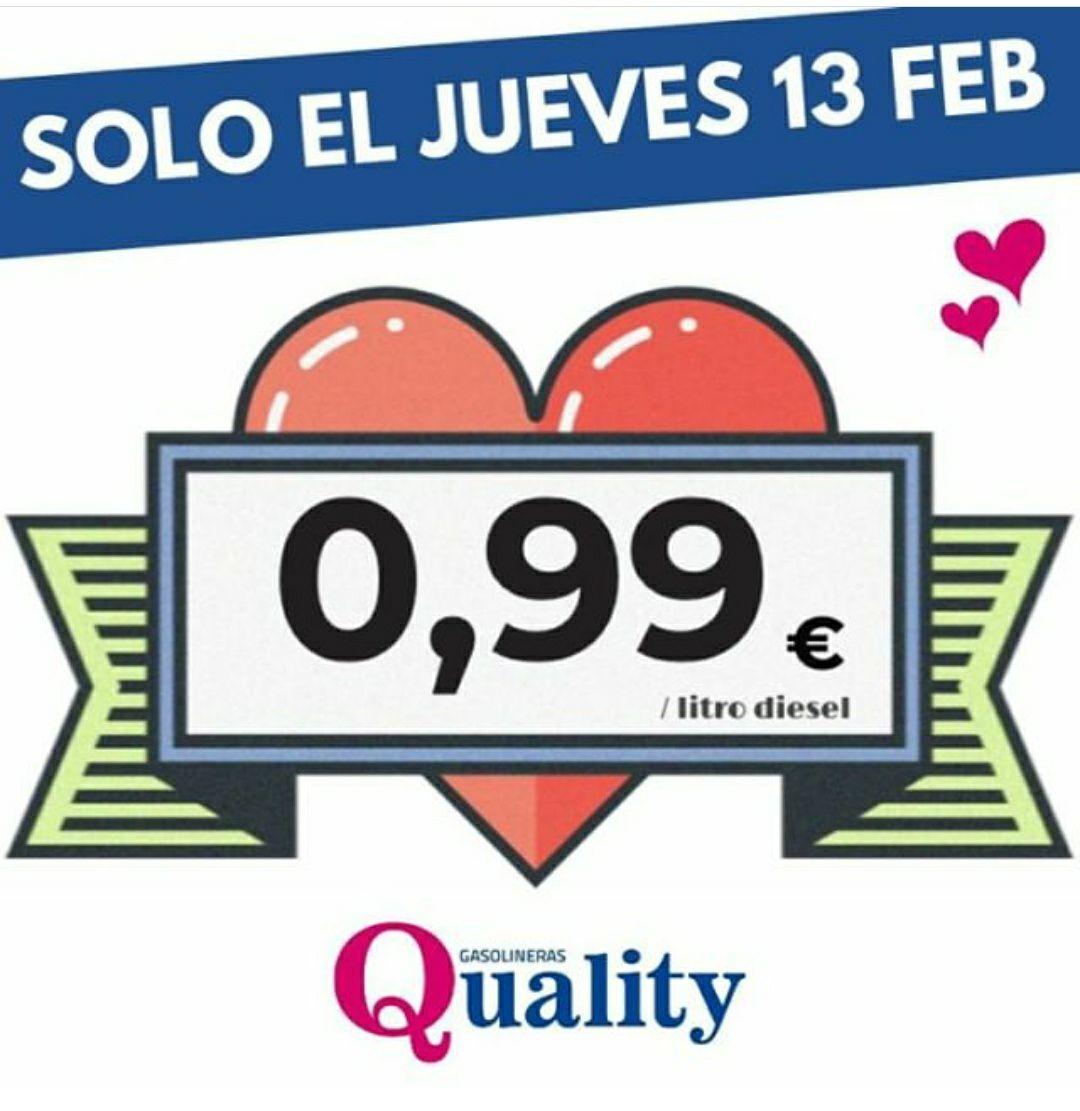 Gasolineras QUALITY 0'99€/l.