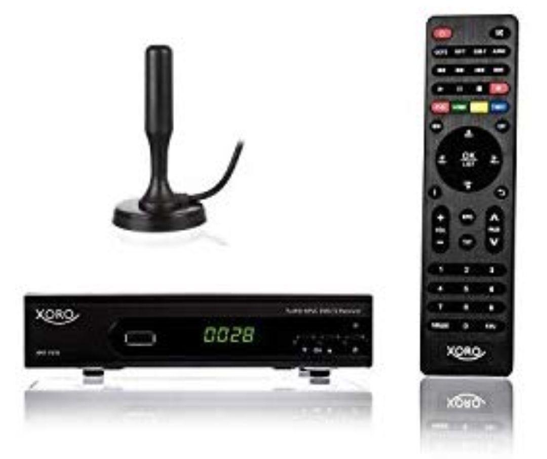 Xoro HRT 7620 Kit Terrestre Alta Definición Total Negro TV Set-Top Boxes - Reproductor/sintonizador
