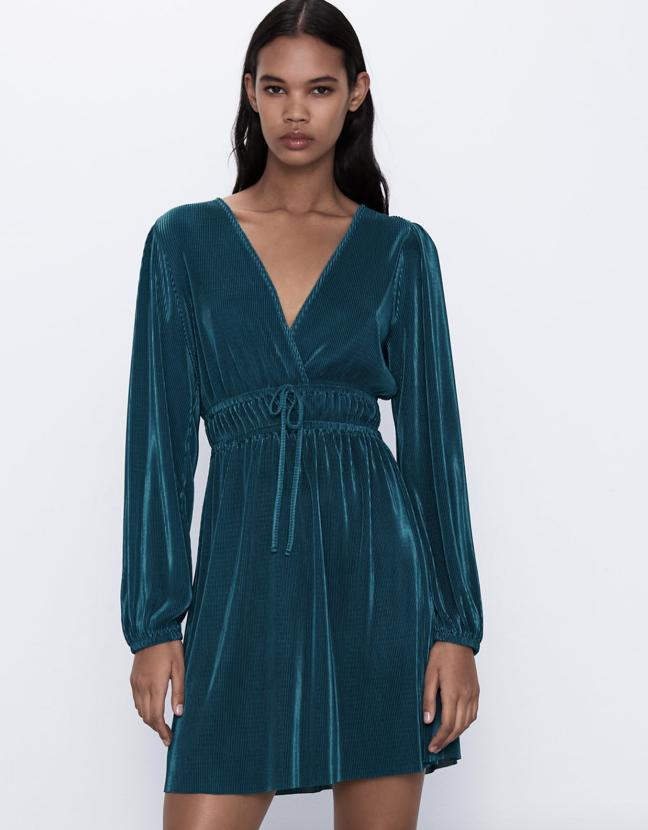 Vestido plisado Zara 3 colores