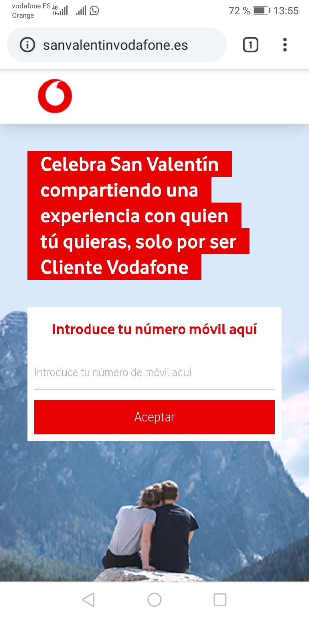 Experiencias gratis por ser cliente vodafone