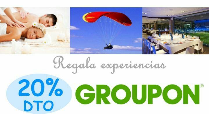 Código 20% dto extra en gastronomía, ocio y experiencias Groupon