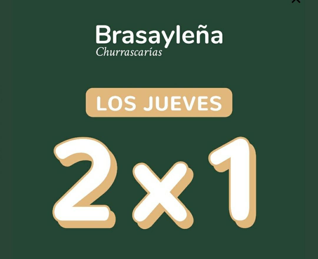 Brasayleña 2x1 los jueves