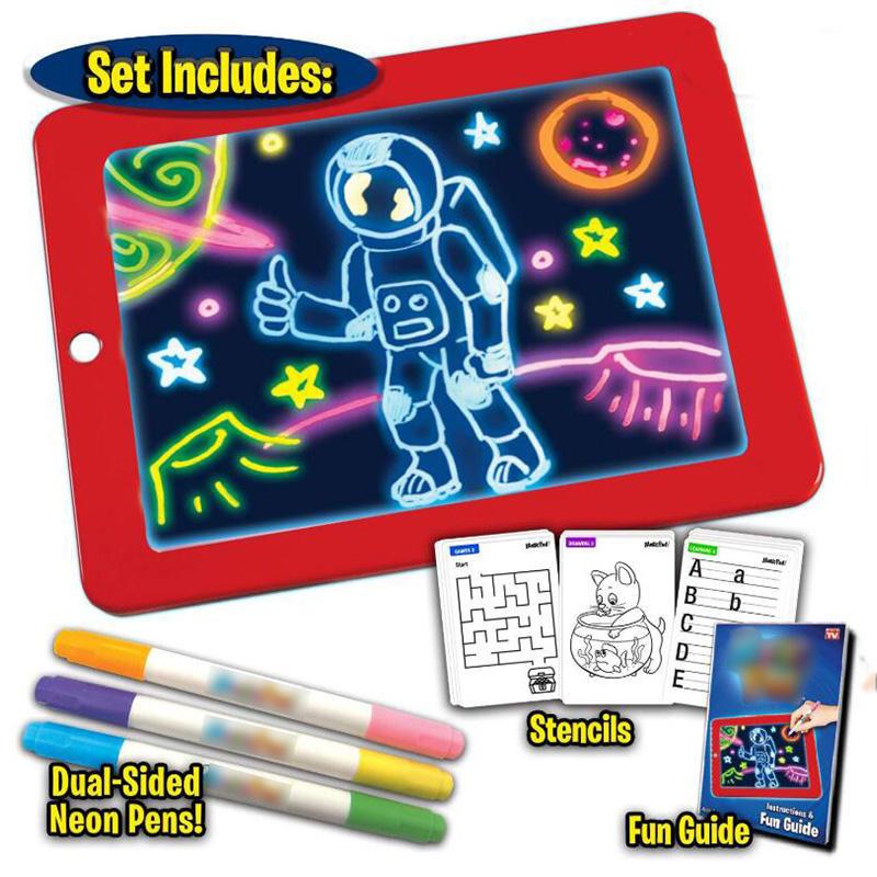 Pizarra luminosa LED con efecto 3D para niños