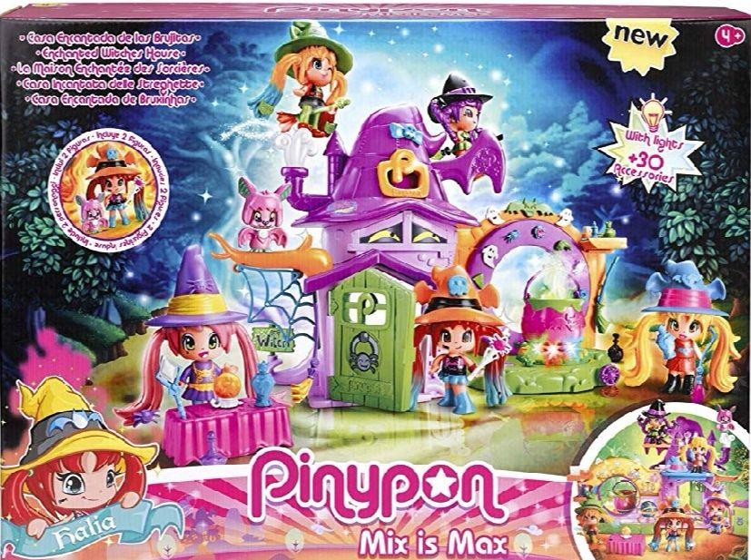 Pinypon - La Casa Encantada de Brujitas, con 1 figurita de bruja.