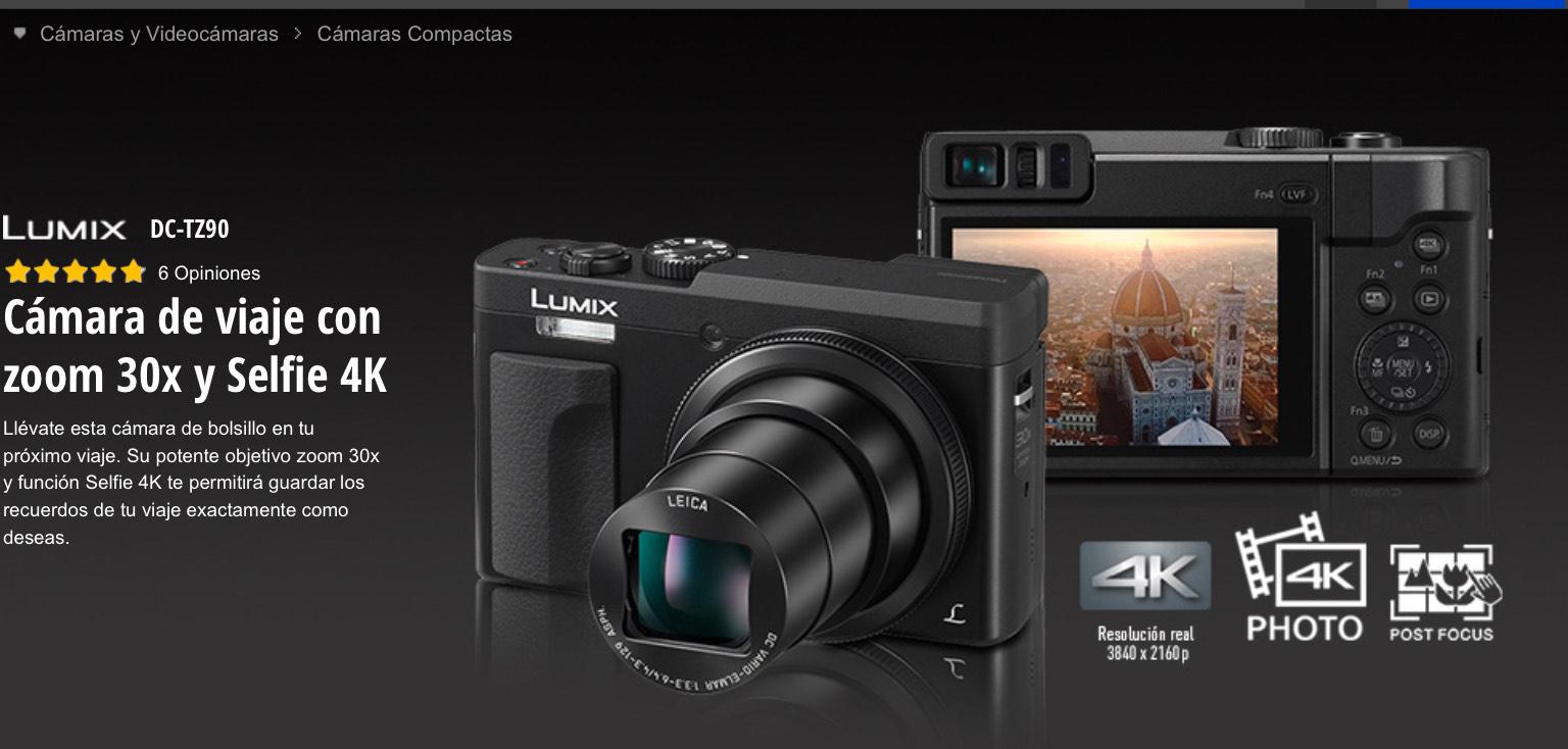 Panasonic Lumix DC-TZ90 Cámara Digital - Plata