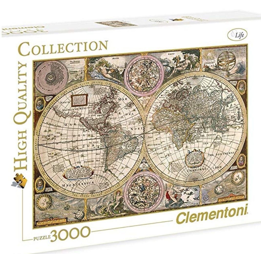 Clementoni - Puzzle de 3000 Piezas, diseño Mapa Antiguo