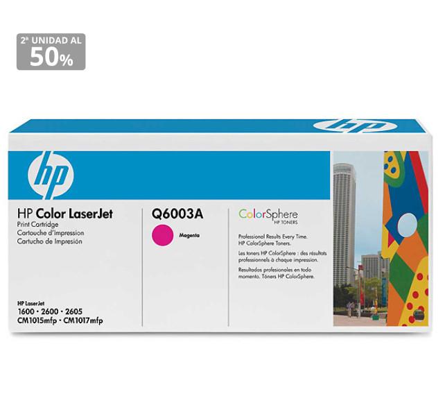 Tóner HP 124A en Magenta, Cian o Amarillo por sólo 25,41€ y 50% en la segunda unidad.