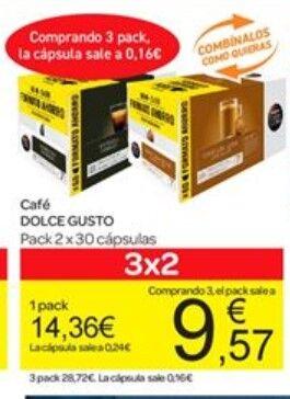 Ofertas Carrefour del 19 al 24 de febrero: Cápsulas Dolce Gusto a 0,16€/cápsula y Neumáticos al 2x1