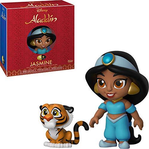 Funko 5 Star - Jasmine y su tigre de la película Aladín, Multicolor