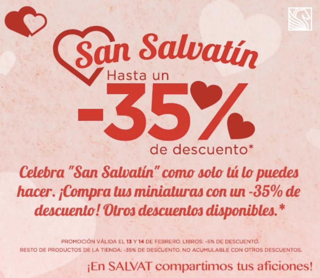 Salvat 35% en toda su web por San Valentin.