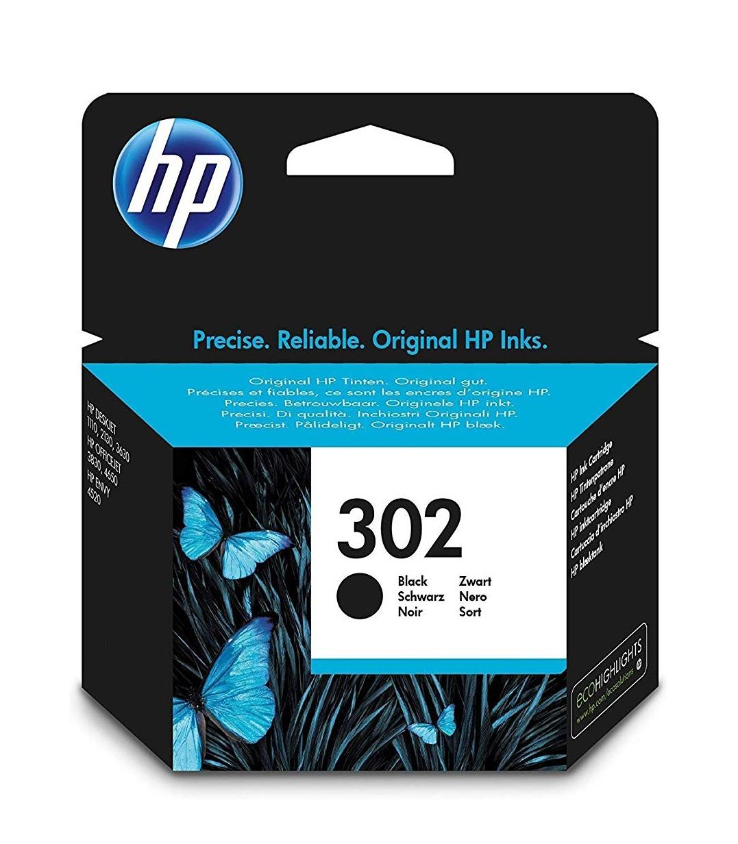 HP 302 - Cartucho de tinta Original Negro, 4,07€ descuento al tramitar y otros