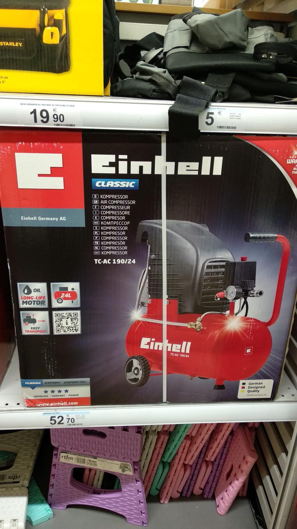 Compresor de aire Einhell 190/24 8 bares 1'5kw en Carrefour de Sestao