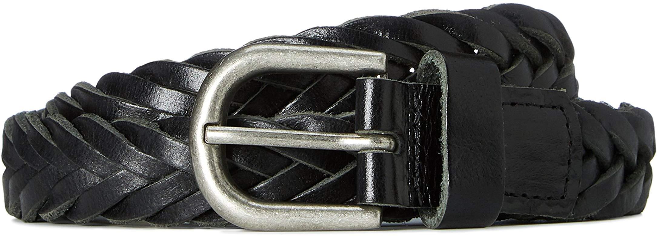 Cinturón trenzado para hombre de cuero talla 34w