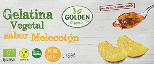 12 paquetes de Gelatina Golden Organic Melocotón