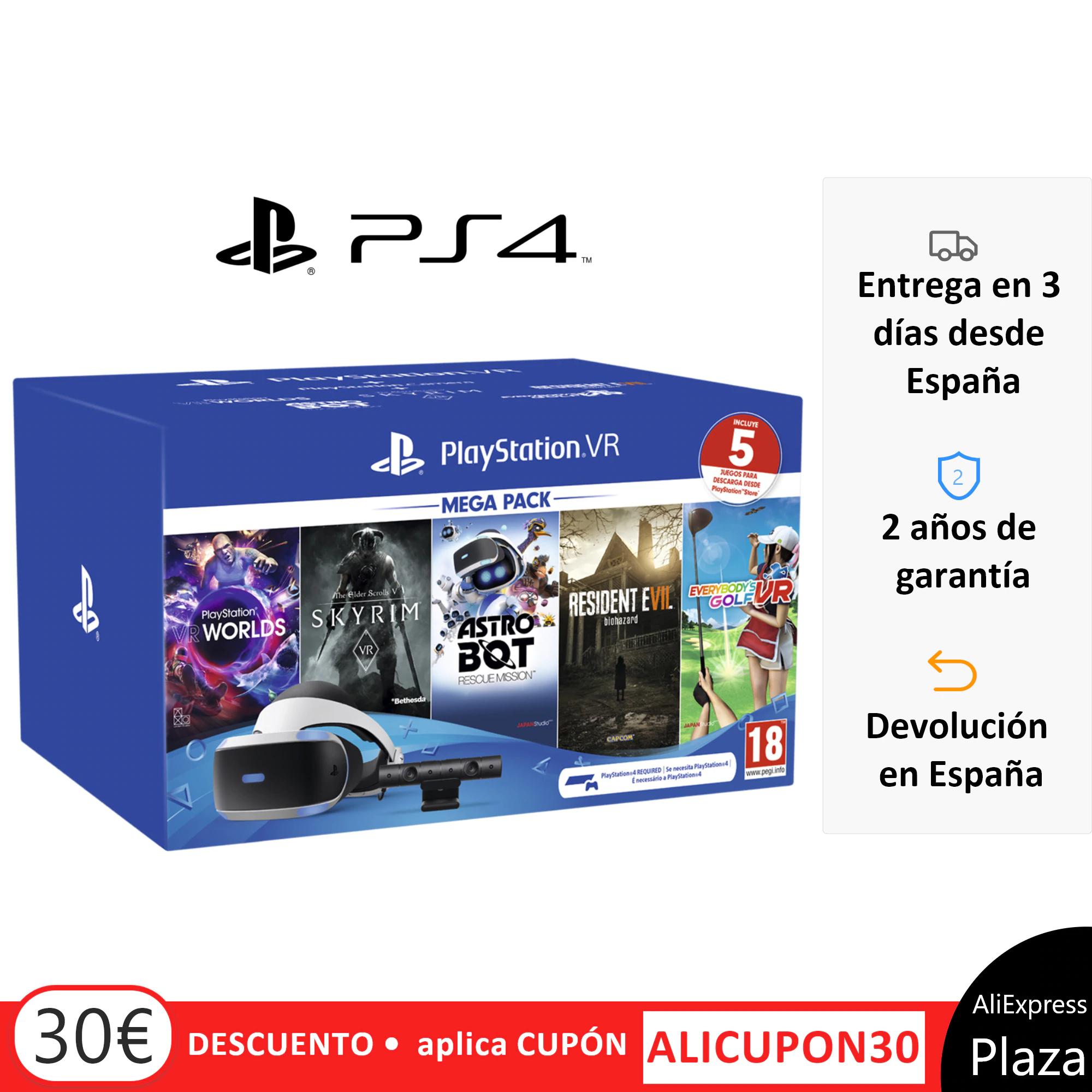 Playstation VR Megapack + 5 Juegos + Accesorios Consolas - DESDE ESPAÑA