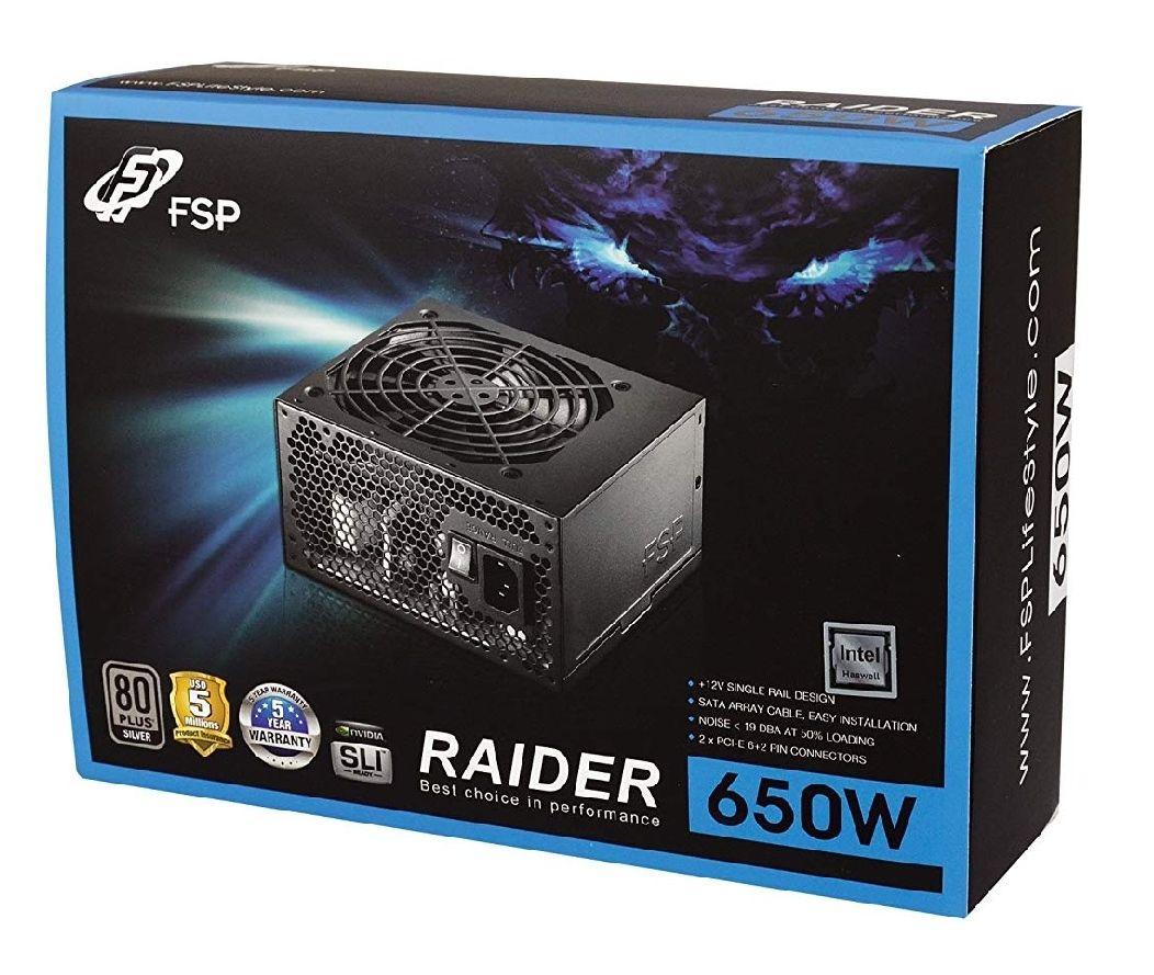 FSP/Fortron Raider RA-650 – Fuente de alimentación, 650 W (Reaco/muy buena)