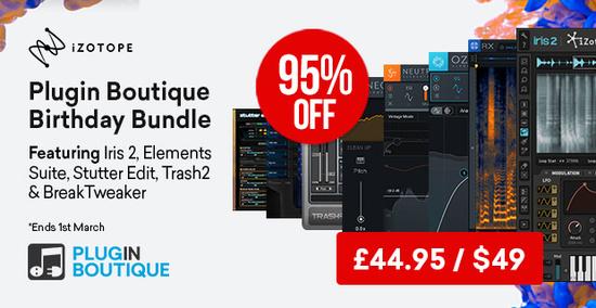 Bundle iZotope (plugins audio): Breaktweeker, Stutter Edit, RX 7 Lite y más