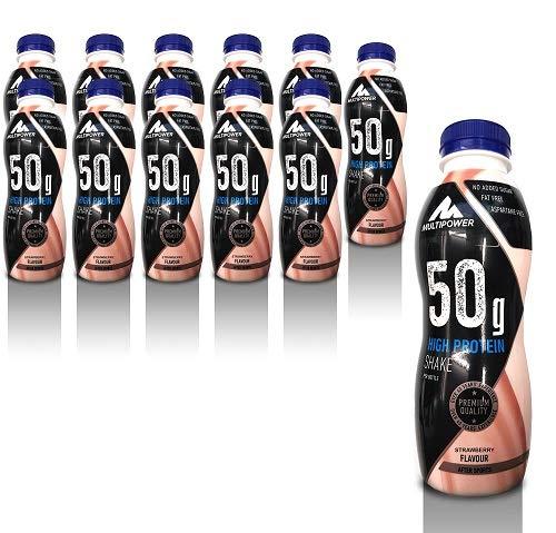 Multipower 50g Protein Shake, Sabor Strawberry - 12 Unidades