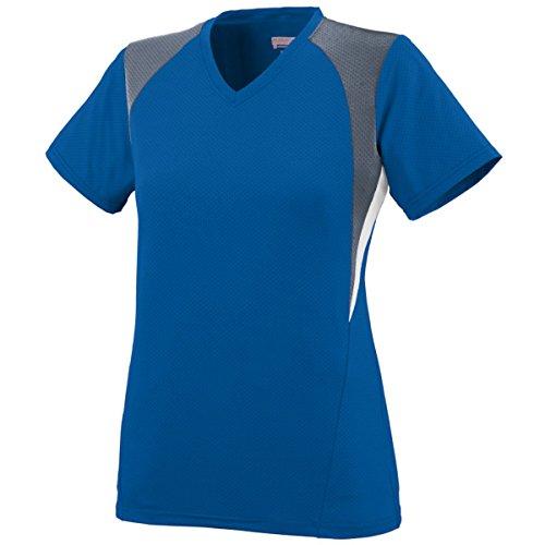 Augusta Sportswear Girls' Mystic Jersey M Royal/Graphite/White