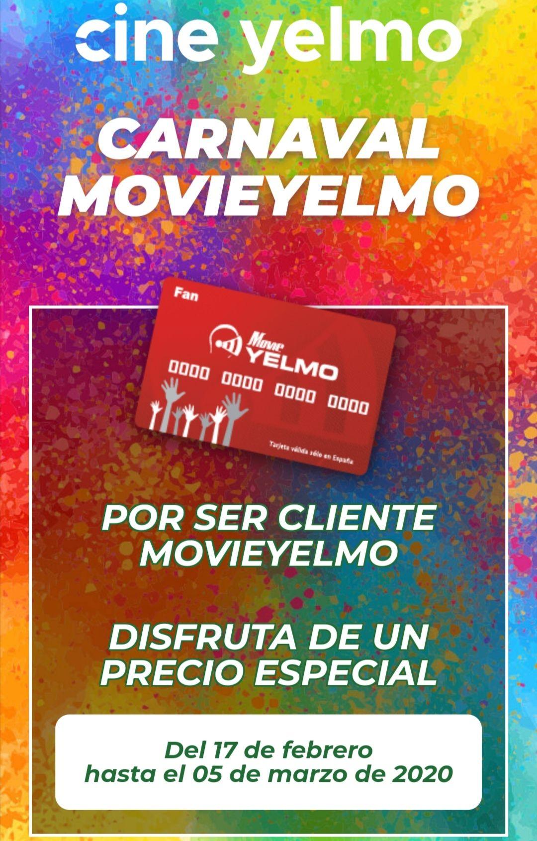 Precio especial con la tarjeta MovieYELMO