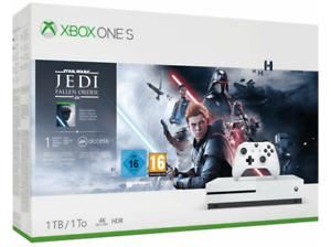 Consola - Microsoft Xbox One S, 1 TB, Blanco + Star Wars: Jedi Fallen Order en Mediamarkt