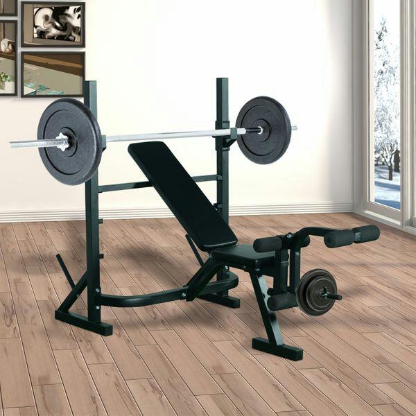 HomCom® Banco de Pesas para Entrenamiento y Musculación A Mitad de Precio
