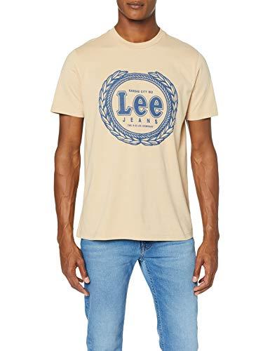 Camiseta Lee beige