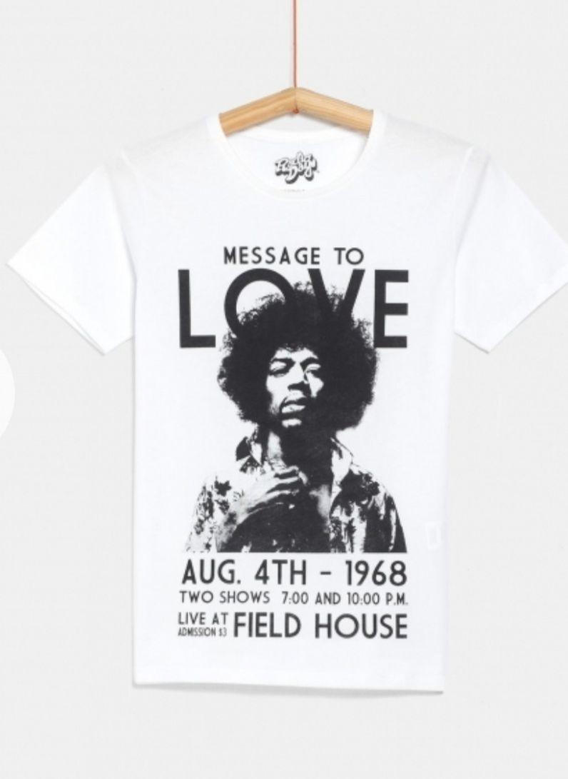 Camiseta de Jimi Hendrix de RADIODAYS Algodón 100%