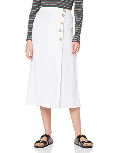 Falda color blanco talla 40