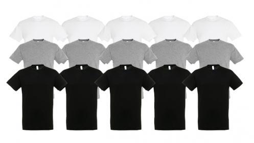 10 camisetas básicas por 3€ cada una