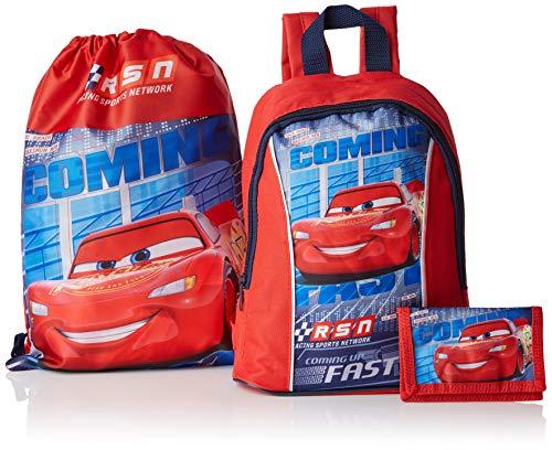 Disney CARS. Pack de Mochila, Bolsa y Cartera