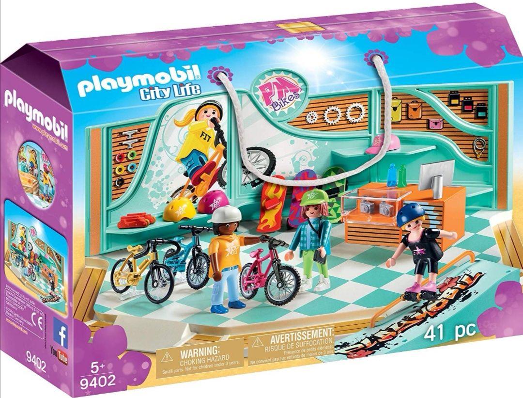 PLAYMOBIL- Tienda de Bicicletas y Skate.
