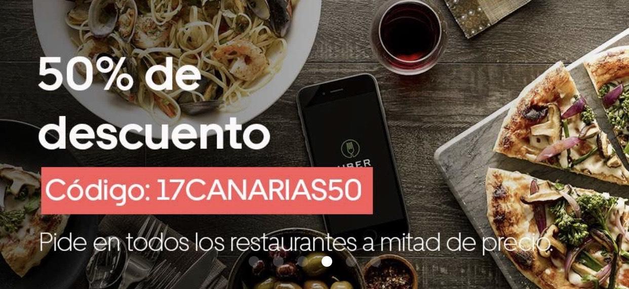 50% de descuento en todos los restaurantes (CANARIAS)