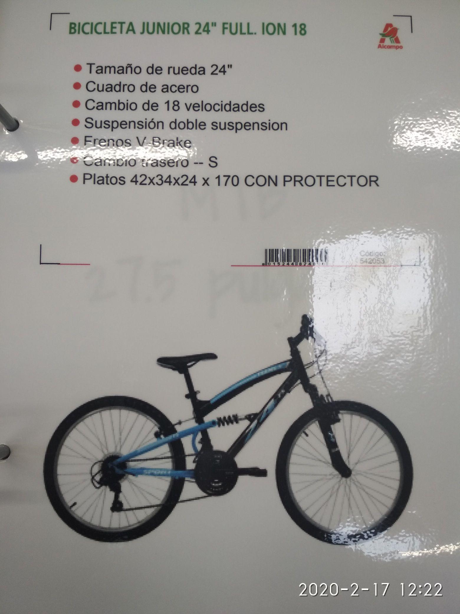 Bicicleta de montaña en el Alcampo de Toledo