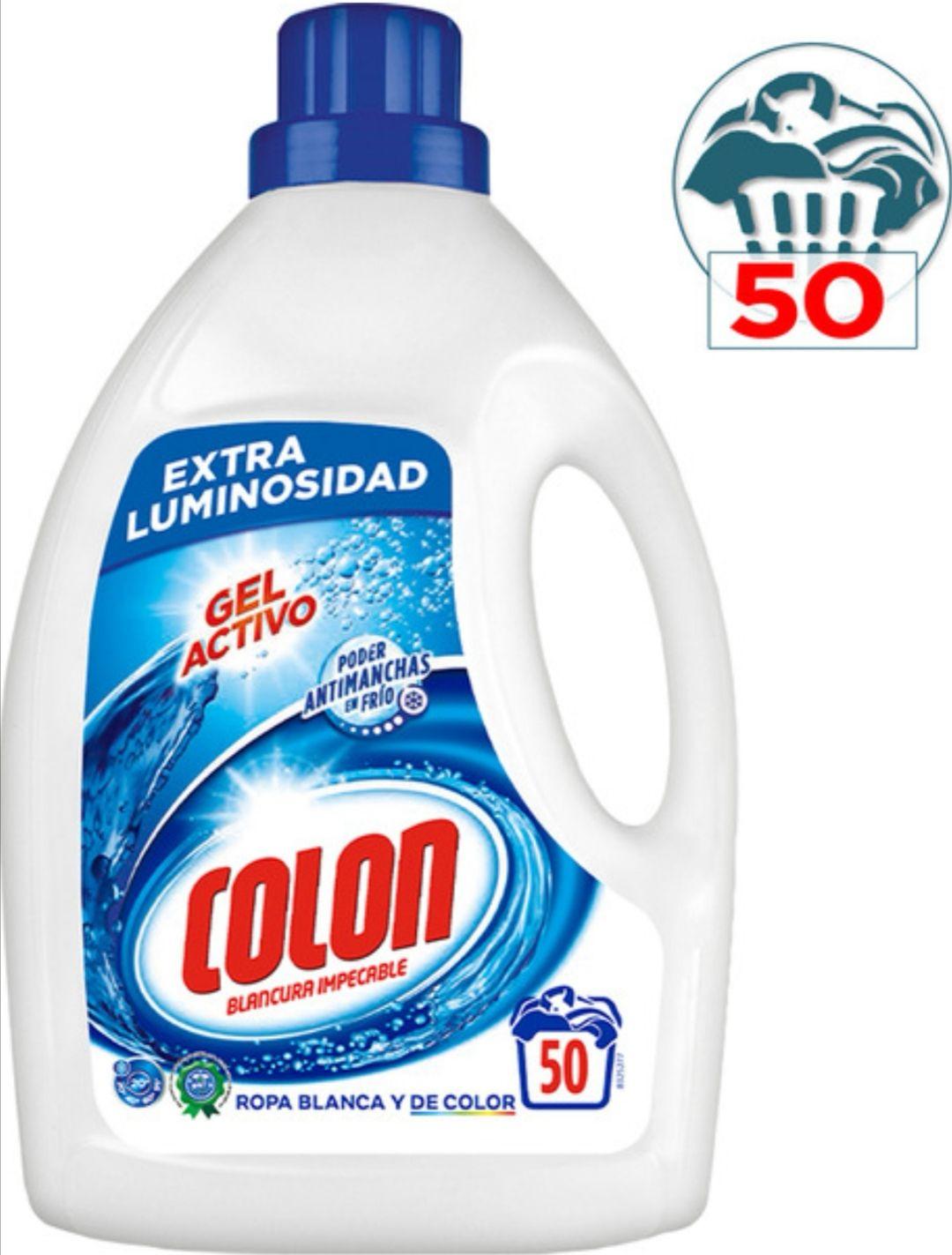 2 botellas de detergente COLON líquido gel activo 50 dosis Por 11.99 . (2X1)