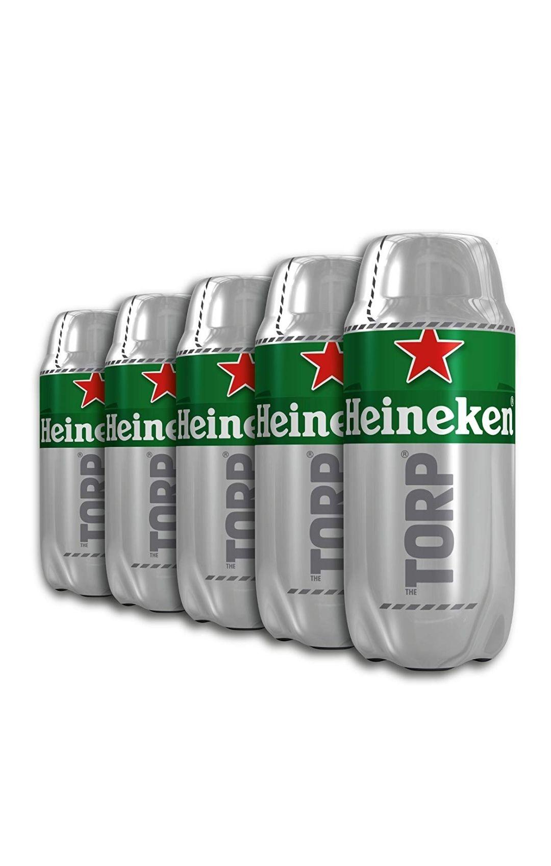 Cerveza Heineken - 5 barriles de 2l. Total 10L