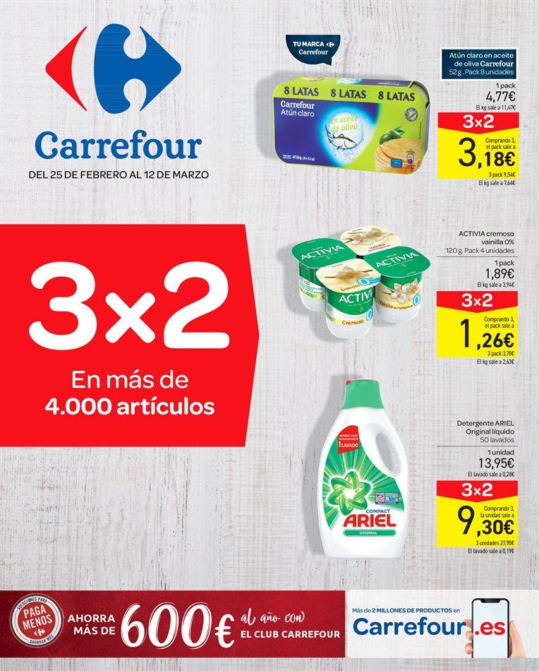 Catálogo Carrefour 3x2 del 25/02 al 12/03 :)