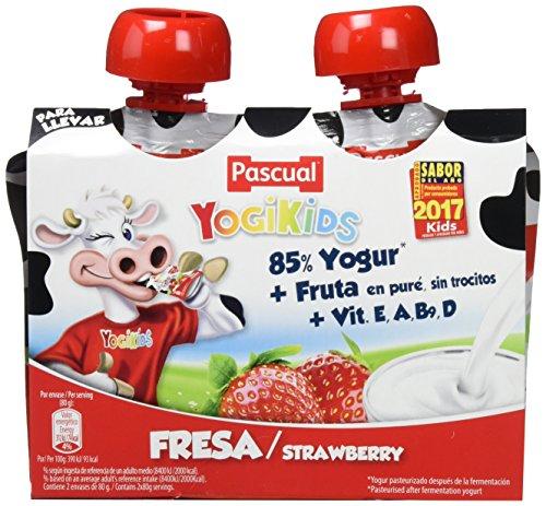 Yogur Pascual Yogikids De Fresa Para Llevar Duo 2X80G (Caja De 9 Packs) Envio de 1 a 4 semanas