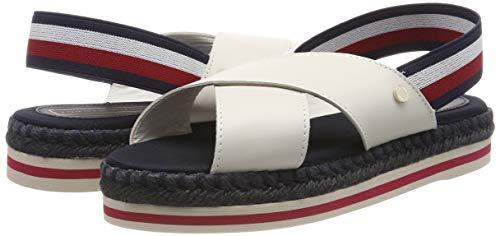 TALLA 42 - Tommy Hilfiger Colorful Rope Flat Sandal, Chanclas para Mujer