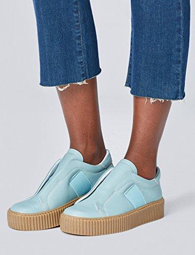 Marca Amazon - find. Zapatilla Elástica con Suela Plataforma Mujer 2 colores.