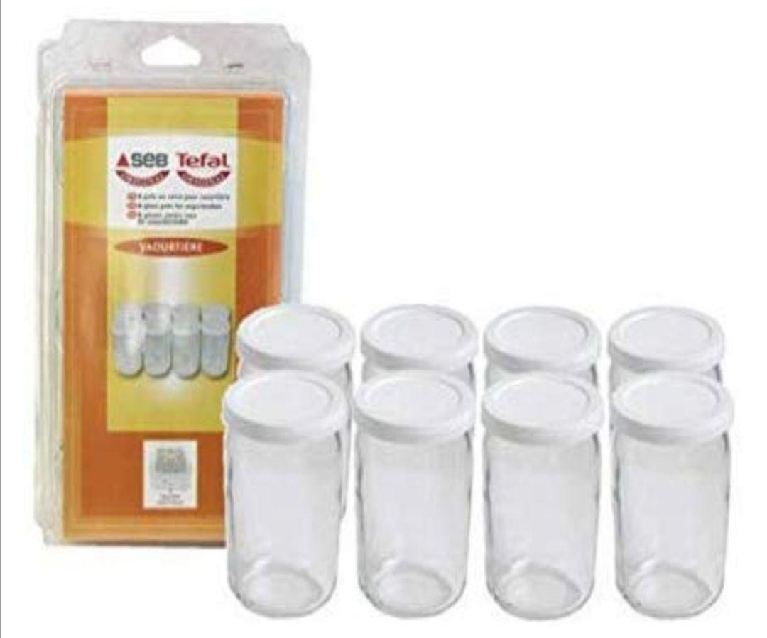 TEFAL. 8 Botes Con Tapa de Vidrio, Transparente(0.22€ unidad)