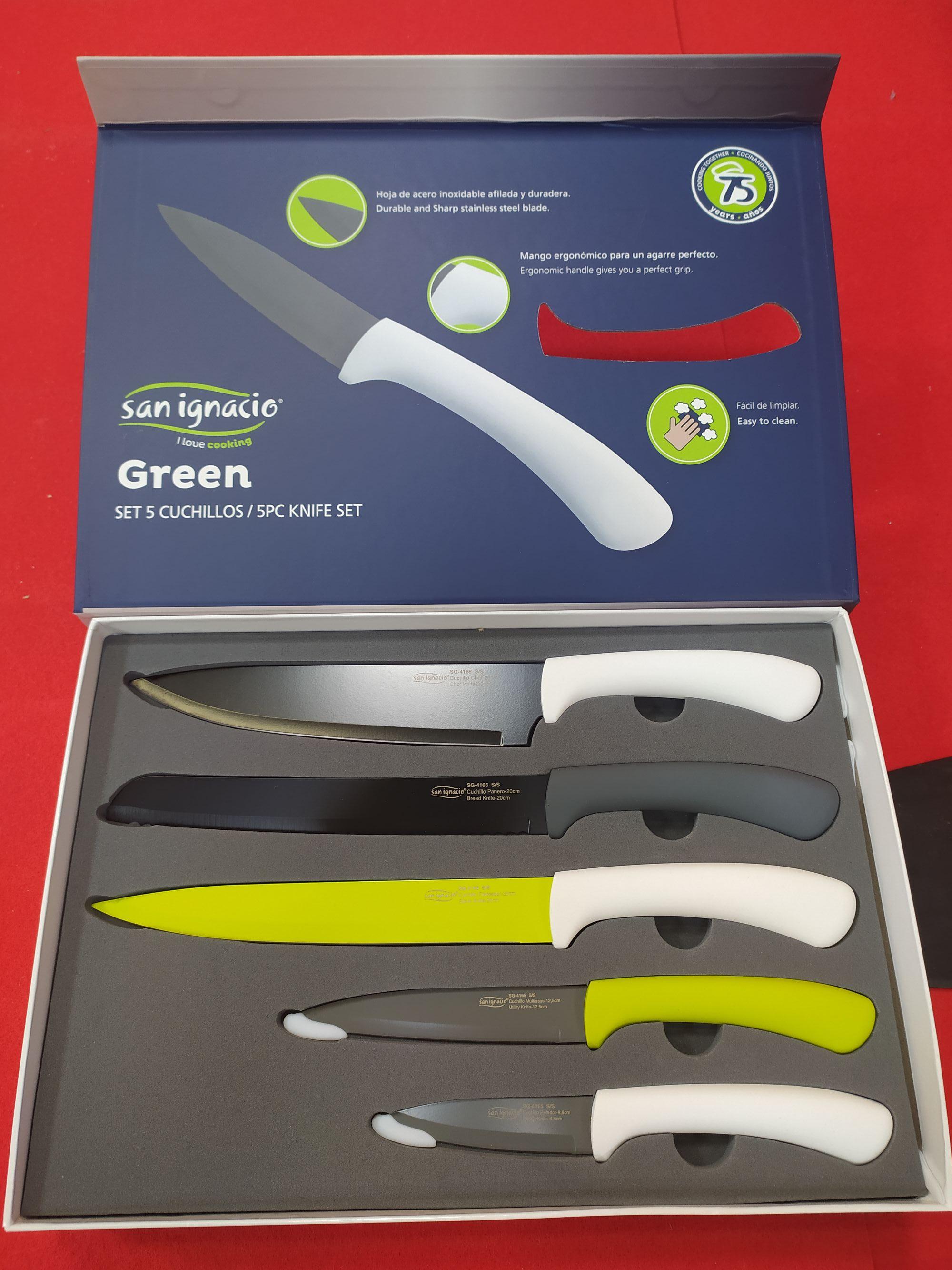 Set 5 cuchillos acero inoxidable