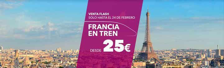 Tren a Francia desde 25€