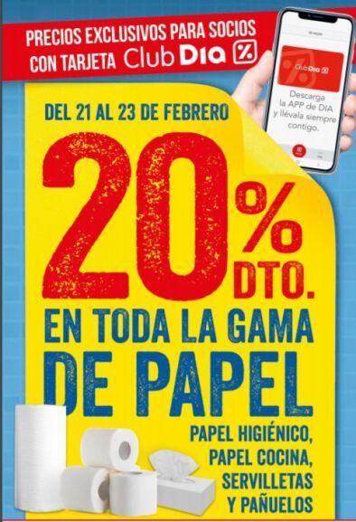 Catálogo DIA del 20/02 al 26/02: Vivesoy a 0,99€, 20% EN PAPEL y más ofertas