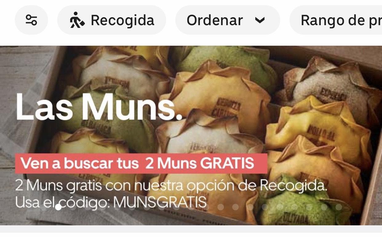 Empanadillas GRATIS uber eats